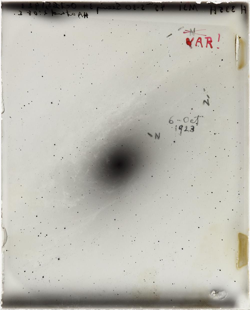 Hubble's Famous M31 VAR! plate