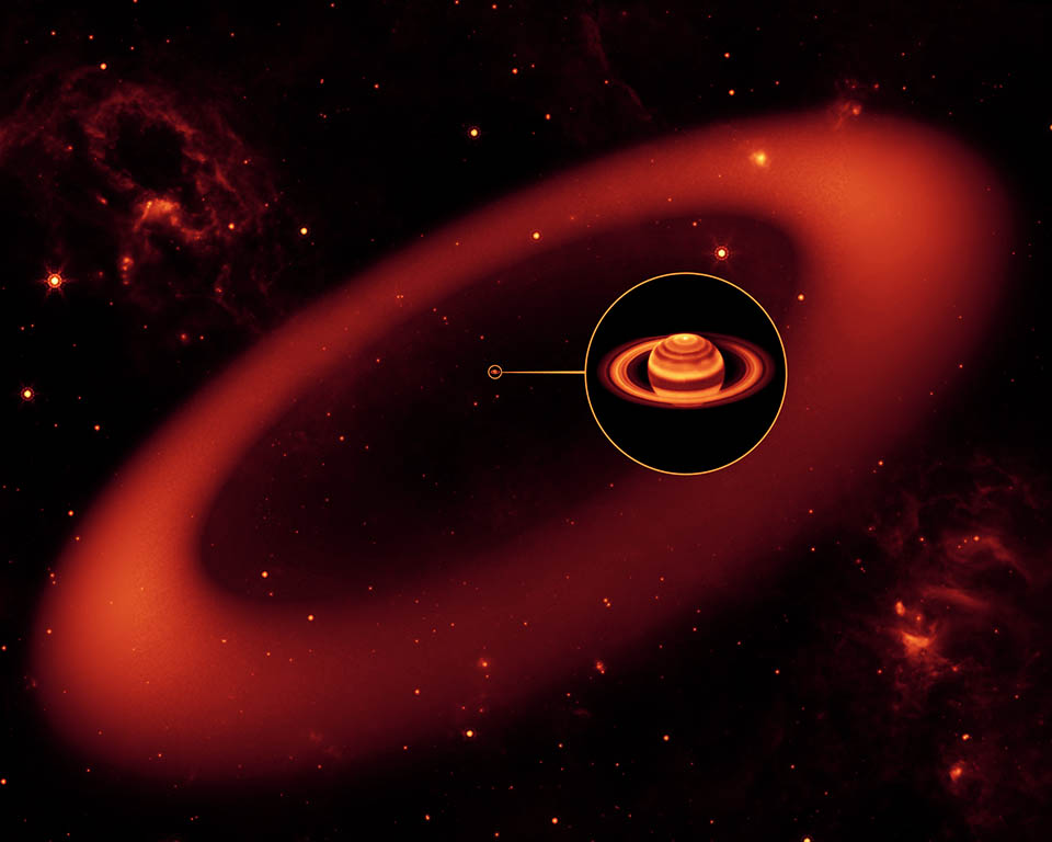 Spitzer discovers Saturn's largest ring