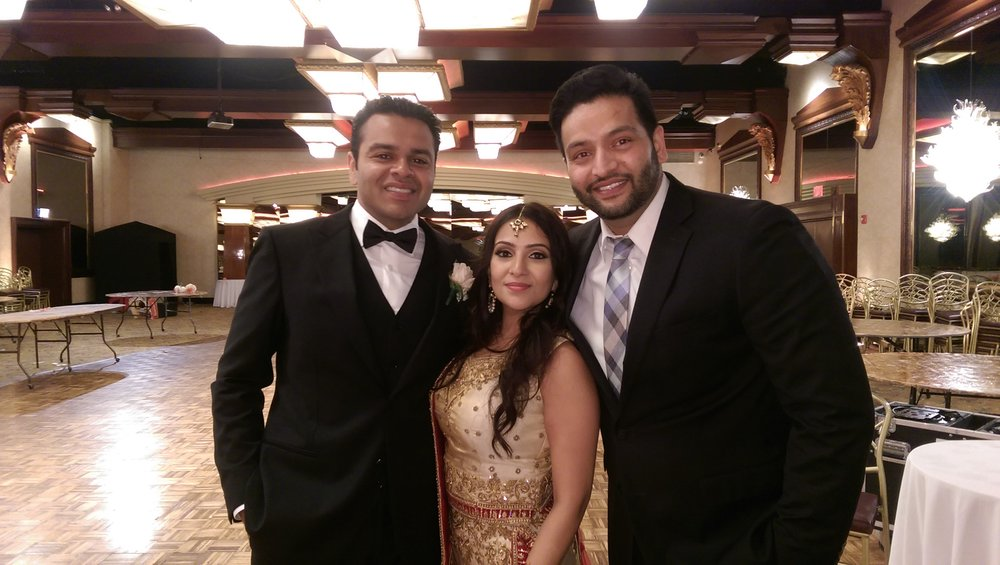 Dj amrit with the royal couple at Crest Hollow Country Club, NY