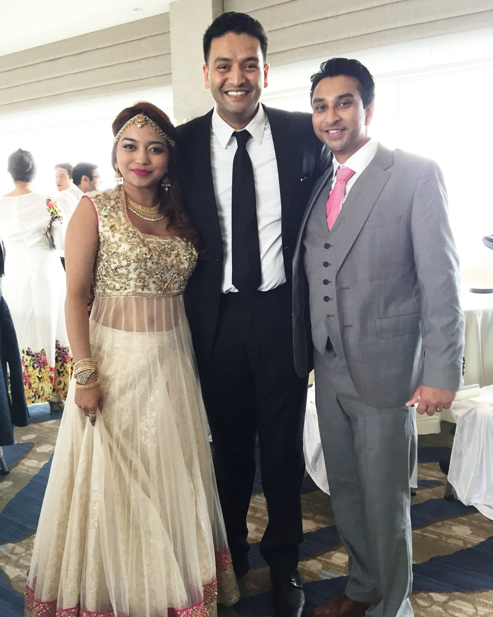Dj Amrit with the couple at JErsey city hyatt, NJ.