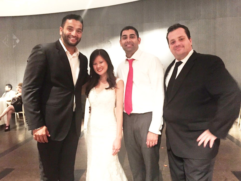 Mc Mario with DJ Amrit and the Wedding couple at One Atlantic, Atlantic CIty, NJ.