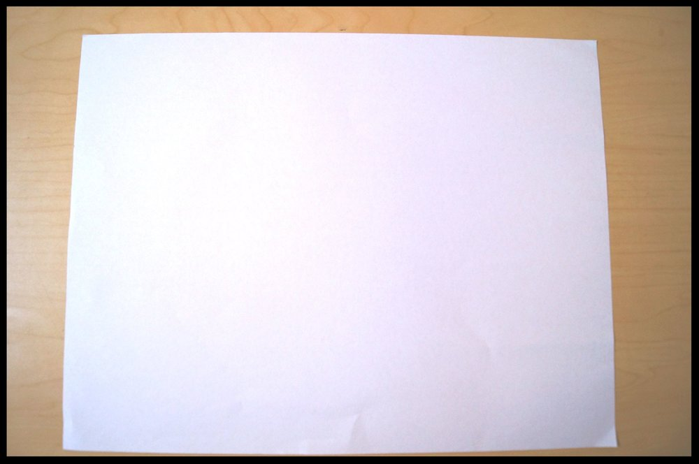 1.       Lay one sheet of paper horizontally.