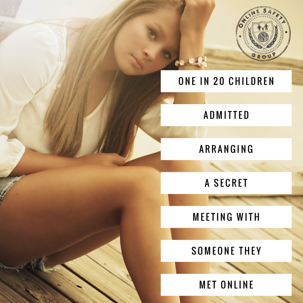 One in twenty children admitted arranging a secret meeting with someone they met online