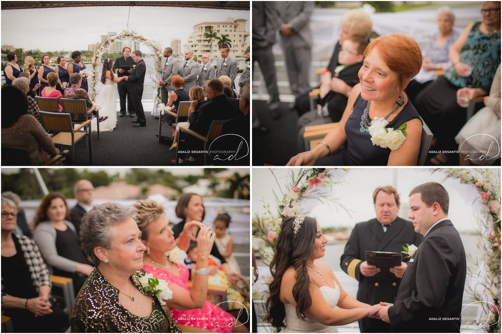 Taylor and amanda Indiana Fort Lauderdale Sun Dream yacht charter wedding 11