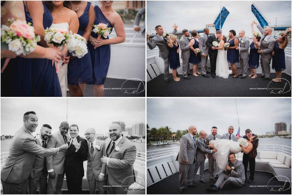 Taylor and amanda Indiana Fort Lauderdale Sun Dream yacht charter wedding 13