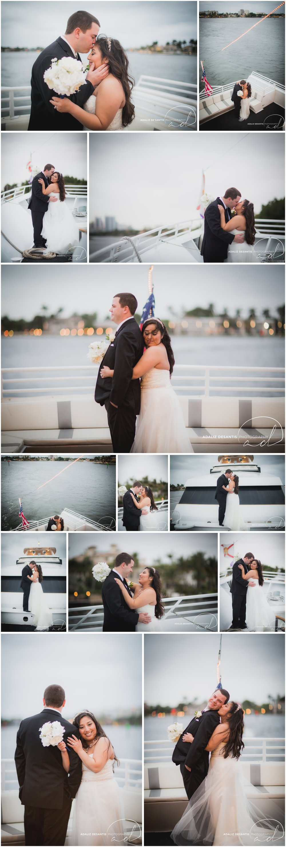 Taylor and amanda Indiana Fort Lauderdale Sun Dream yacht charter wedding 14