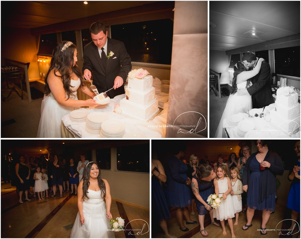 Taylor and amanda Indiana Fort Lauderdale Sun Dream yacht charter wedding 22