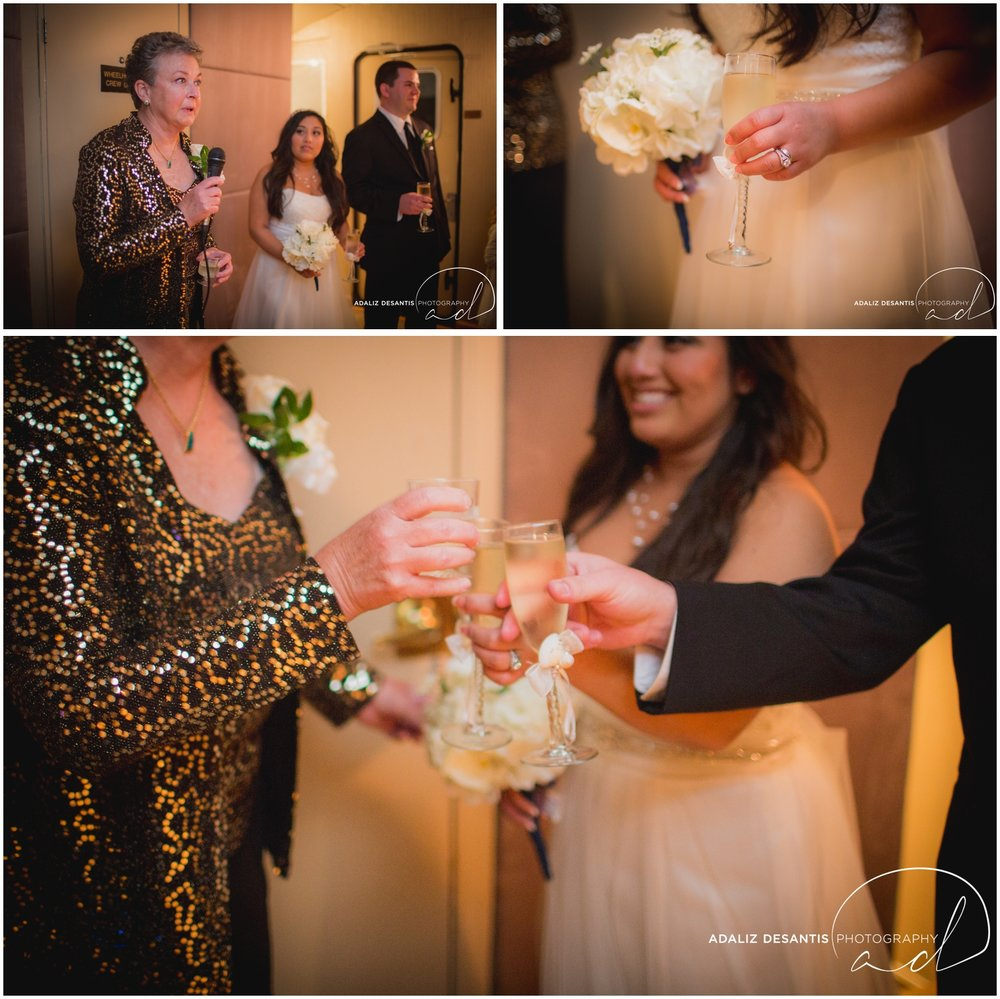 Taylor and amanda Indiana Fort Lauderdale Sun Dream yacht charter wedding 19