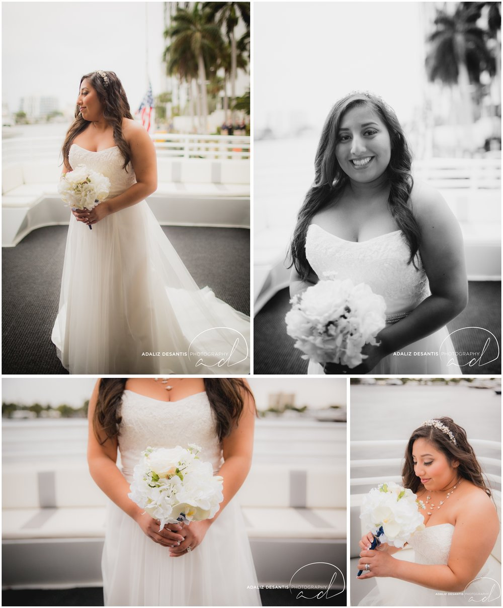 Taylor and amanda Indiana Fort Lauderdale Sun Dream yacht charter wedding 6