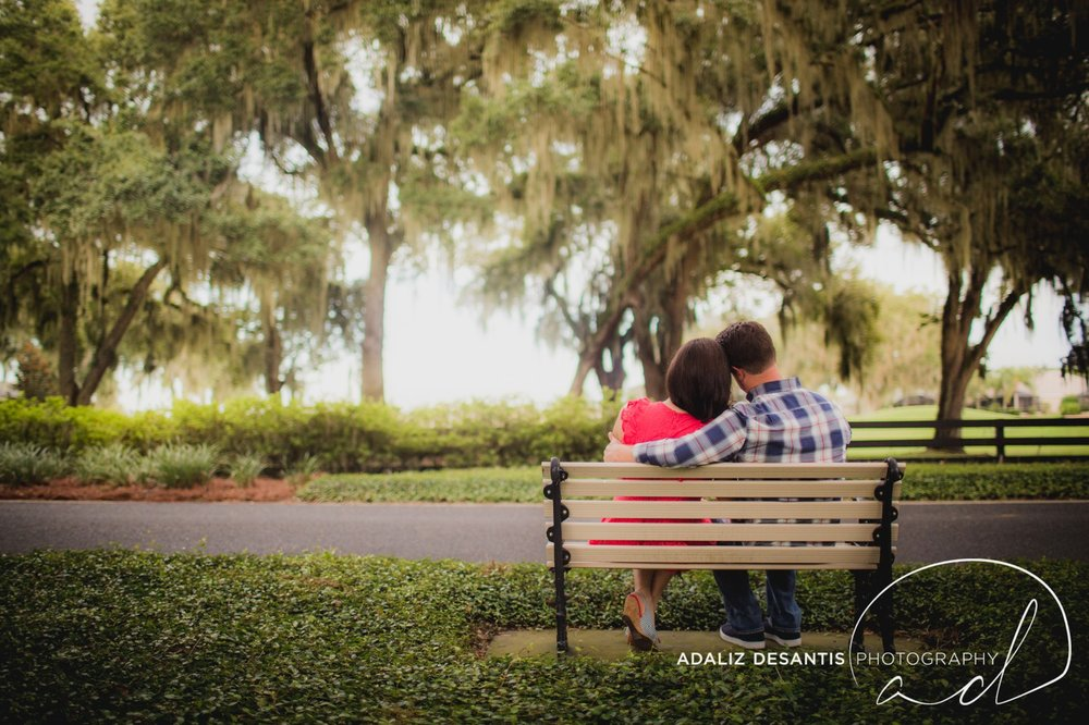 Reunion Resort Orlando Wedding Photographer Engagement Session Gold Course Christine Brandon may Meet the mays 8.jpg