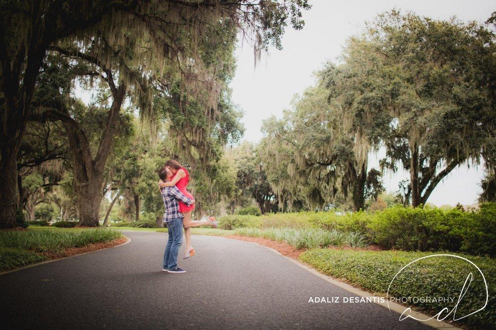 Reunion Resort Orlando Wedding Photographer Engagement Session Gold Course Christine Brandon may Meet the mays 9.jpg