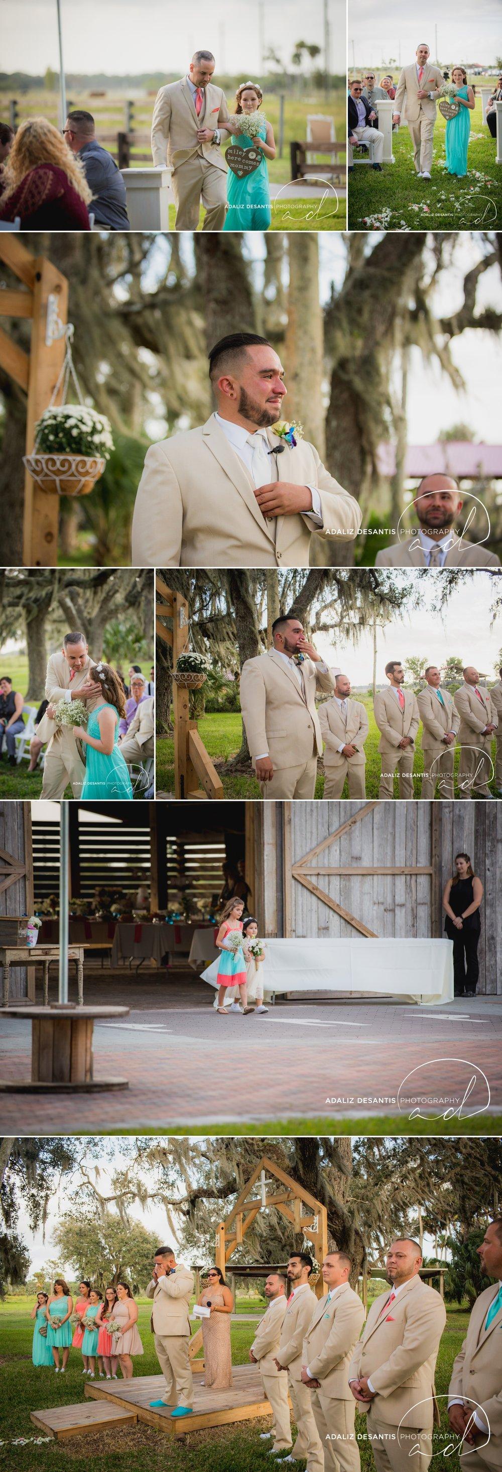 Pine Ridge Plantation Port Saint Lucie okeechobee wedding shabby chic dyi barn wedding teal coral miles crystal cardenas 15.jpg