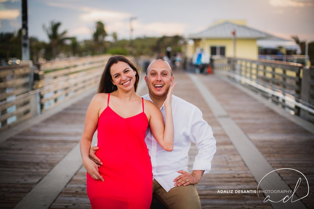 Gaby Aaron Engagement Session South Florida Dania Beach PIer Summer Love Destination Engaged 12.jpg