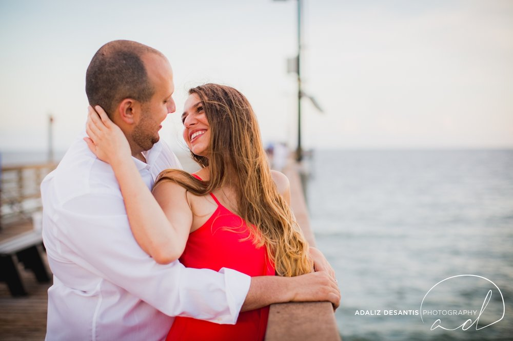 Gaby Aaron Engagement Session South Florida Dania Beach PIer Summer Love Destination Engaged 14.jpg