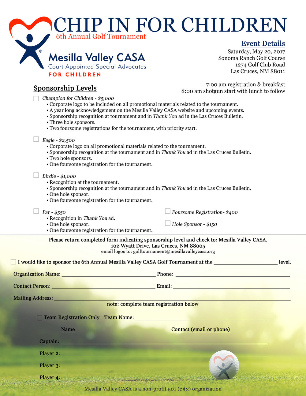 Print this regitration form and mail it in today!