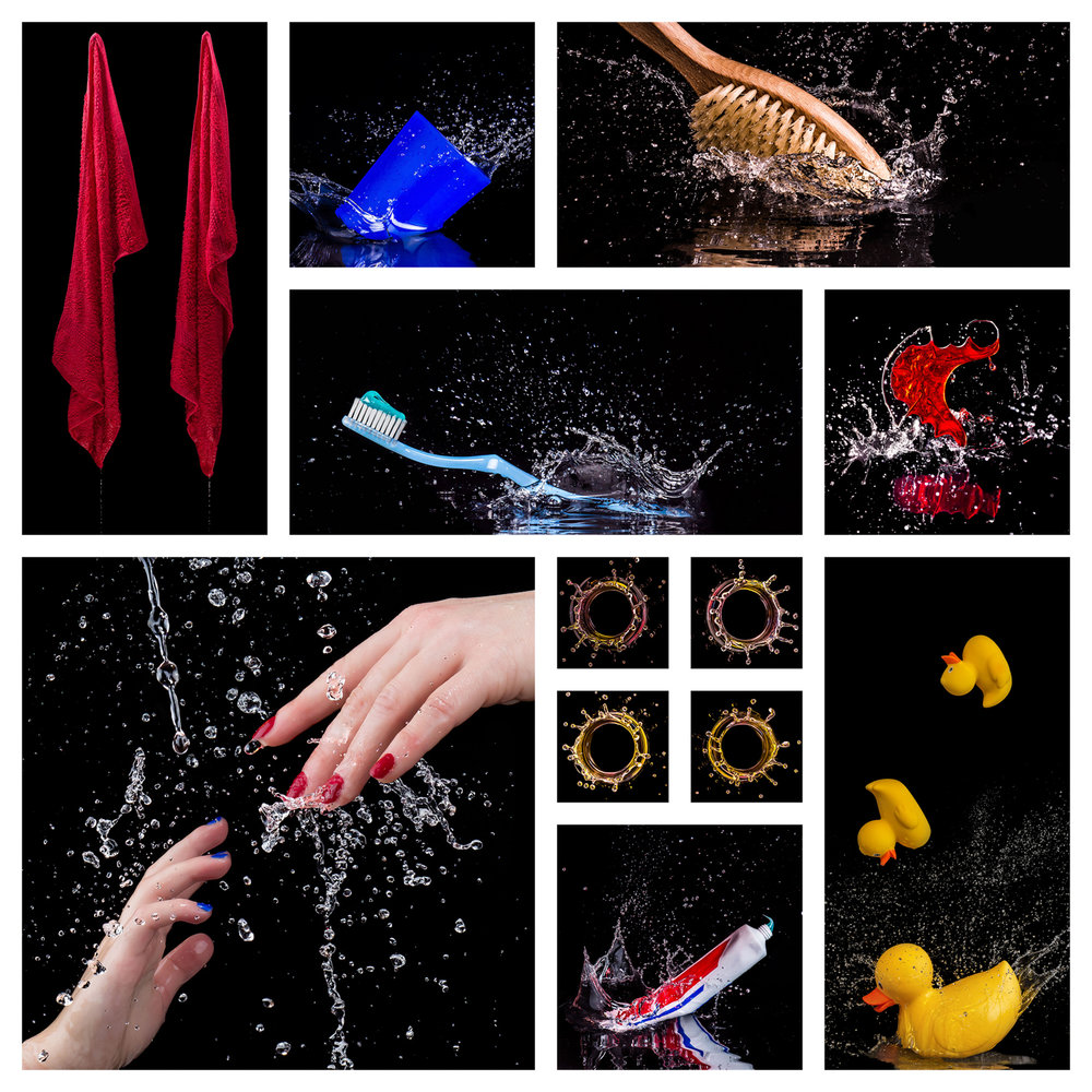 One Splash Two Splash Red Splash Blue Splash