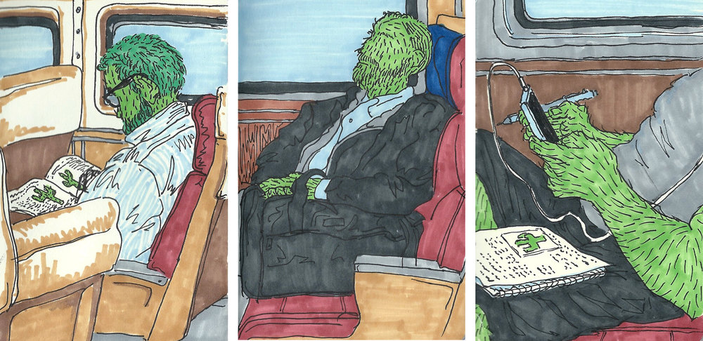 Cactus People on the Train