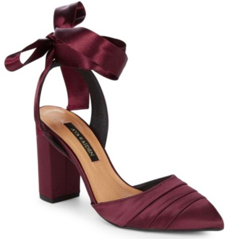 Doesn't the bow on these  Ava & Aiden heels  add the perfect feminine pop to a classic dress?!