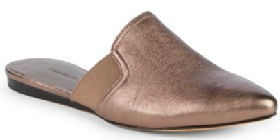 If you don't like to wear jewelry, adding a metallic sheen in your shoes is a FUN way to get that texture & polish in your Look. These  Vince mules  will do just that (and super comfy!).