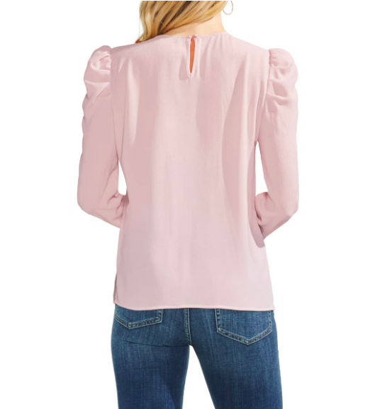 How CUTE is this  Vince Camuto Puff shoulder ?! For any pair shape people out there- this will do you wonders to balance your top half out… your waistline will look so tiny and you'll get that hourglass silhouette!