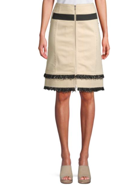 What a chic statement this  Derek Lam A-line  skirt will make with a simple blouse! It's timeless and flattering and can be carried throughout all seasons!