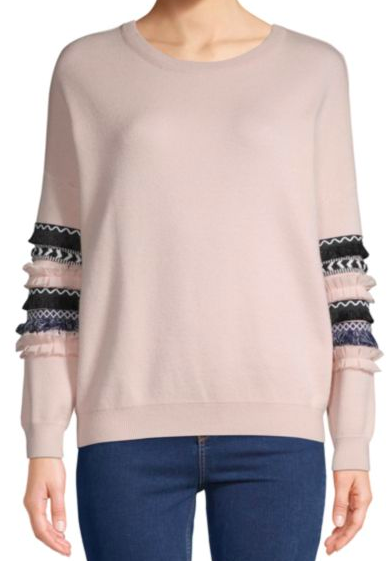 Allison New York: Textured Long Sleeve Sweater : How perfect is this paired with jeans or skinnies?! The sleeve detail allows you to pair with very simple pieces, yet still get that stylish POP!