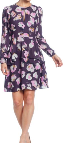 Catherine Malandrino: Printed Fit and Flare : Florals are a BIG trend this fall season. You can wear this with booties and a denim jacket as the weather gets chilly. When it gets colder add some tights and riding boots (perhaps…. those Fryes???!).