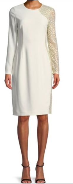 Elie Tahari: Devalynne Shift Dress : This dress is chic and effortless! For a pop of color pair it with a colorful or printed flat. To take it into the evening, slip on a black wedge, red lip, and a statement clutch!
