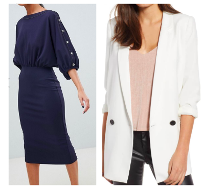Mural Oversize Blazer  with  ASOS Batwing Midi Dress