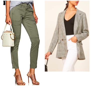 J Brand: Utility Pant  with  Reformation: Linen Blazer