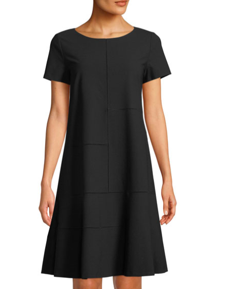 Lafayette 148: Ladder Stitch Shift Dress  This ladder stitch adds a subtle unique touch to a timeless dress. It has an easy cut for almost any silhouette to look great! Perfect to wear casually with flats, or dress it up with a statment necklace and heels!