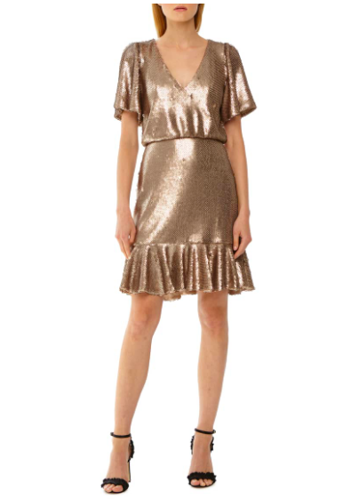 Monique Lhullier: Sequin Dress  STUNN-ING. This dress is gorgeous with some black heels or wear it with a cardigan and flats to dress it down a bit. The silhouette is SO flattering on almost any figure!