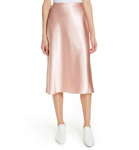 Vince: Satin Slip Skirt