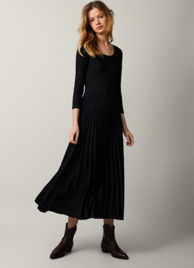 Massimo Dutti  This is bold and fashion forward to pair with these booties, but you can wear it, too with some classy heels or leopard flats! Add a thin belt around your waistline to chop it up, even pop on a blazer over this!