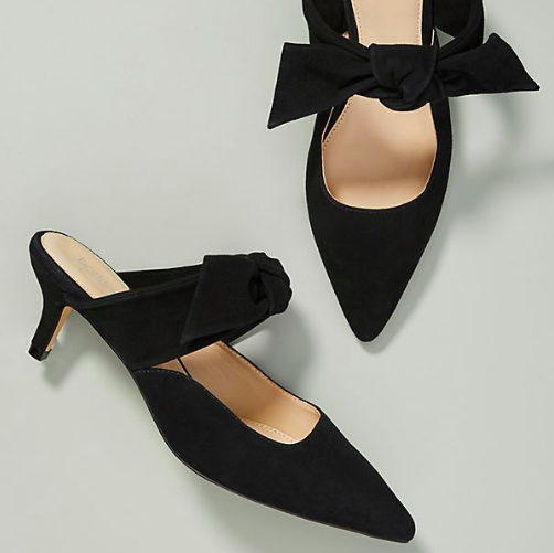 Botkier Pina Mules  Heels do not have a sole purpose of making a woman taller. They add proportion and are also so flattering for creating an elegant frame!