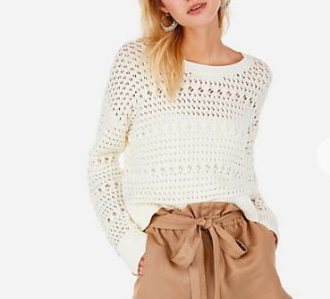 Open Stitch Pullover