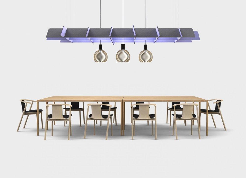 Buzzigrid / Plafond acoustique par  BuzziSpace  (2012)