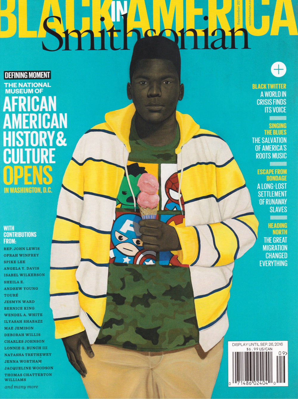 """Innocent You, Innocent Me"" (2016) featured as the cover of the Smithsonian Magazine's September 2016 issue ""Black in America."""