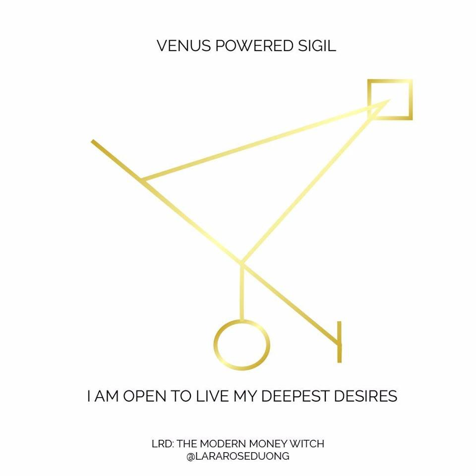 I AM OPEN TO LIVE MY DEEPEST DESIRES SIGIL