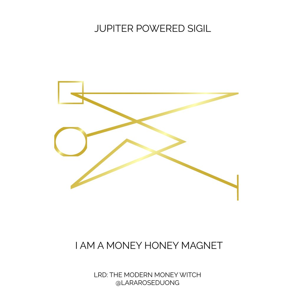 I AM A MONEY HONEY MAGNET SIGIL