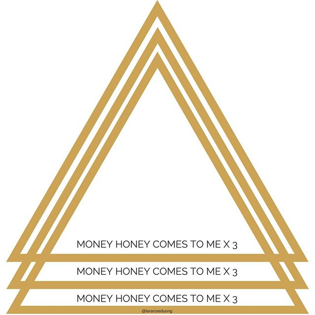 As above so below: Money honey comes to me x 3. It's times like these that I love seeing in doubles + triples + more. What do you want to see in multiples?  #prosperity #manifest #sacredgeometry