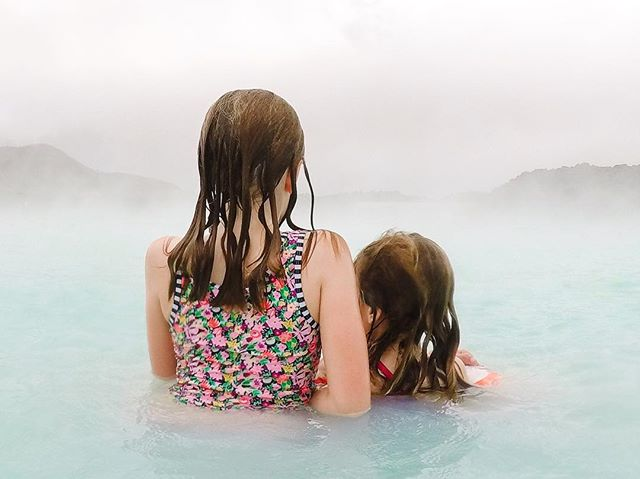 Messy hair, don't care. 💦Taking in the steam and surroundings of the Blue Lagoon. It really was otherworldly. We weren't alone but I just used strategic shooting rather than photo editing tricks. It was the only pool in Iceland we visited that allowed cameras. The other four were community pools with strict no-camera policies. As much as I love capturing memories and making art, it was nice to put the camera down for an hour and go down the slides a zillion times together.