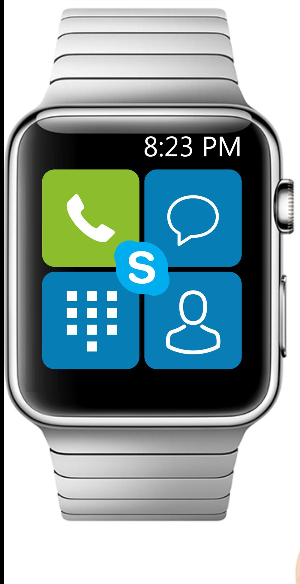 Skype home screen