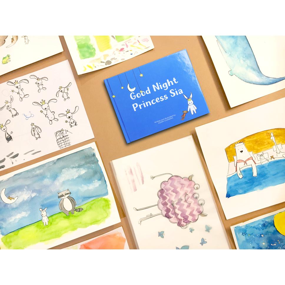 Book Storywriting & Illustrations  (Good Night Princess Sia)