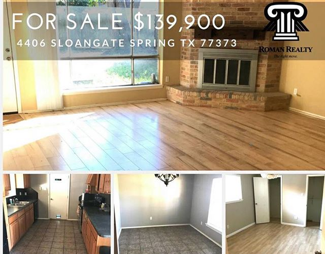 #newlisting Great move in ready, single family home, 3 bedroom on the market for $139,900. Seller financing is available. DM us for more info. #romanrealty #houstonrealestate #springtx