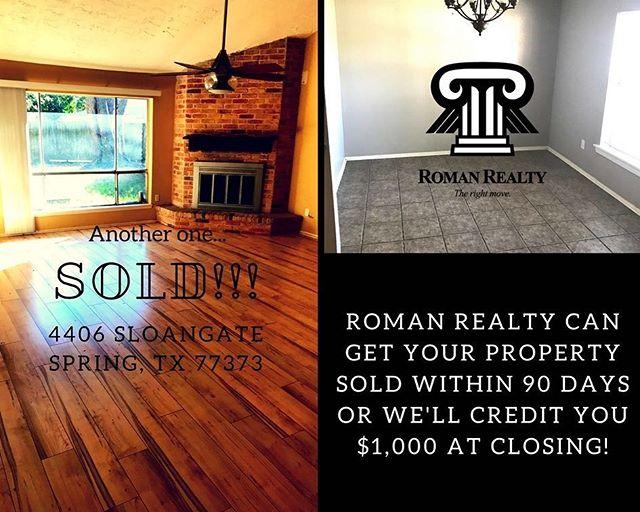#realestate #springtx #quickclose #realty #realtor #houstontx #romanrealty