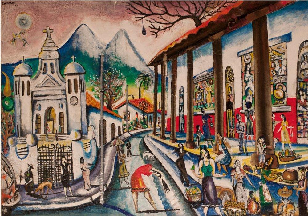 Chubasco    Serie: portales ancestrales, Portal Nonualco XXI,  2001  Acrílico