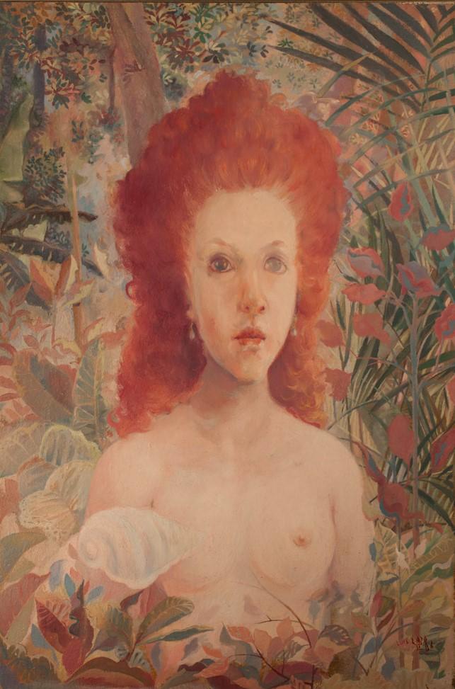 Luis Lazo   Mujer pelirroja, 1993