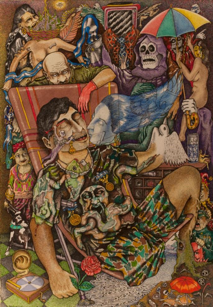 Dagoberto Nolasco    El soldado , 1992  Técnica mixta
