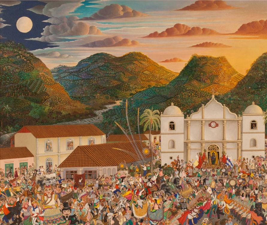 Julio Sequeira    La fiesta de Boaco , 1980  Acrílico
